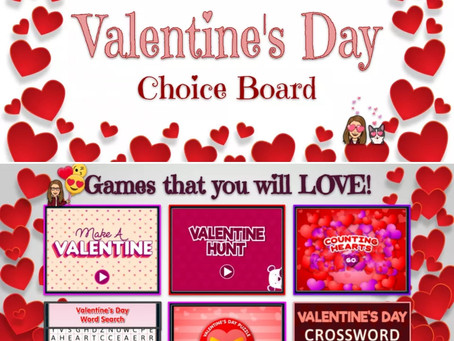 💖Valentine's Day💕 Choice Board