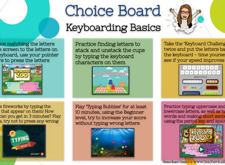 Keyboarding Basics 💻 Choice Board