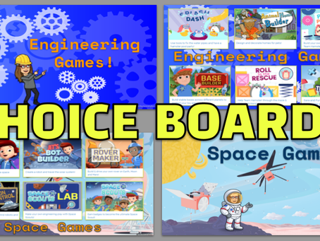 Engineering & Space: STEM Choice Boards🏗🚀🌌