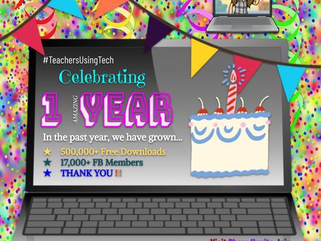 #TeachersUsingTech Turns 1!🎂💻