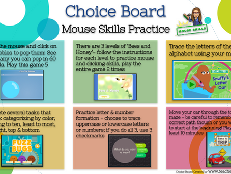 Mouse Skills Choice Board 🖱🐭
