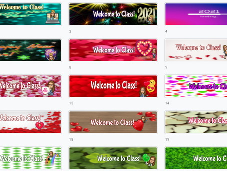 Google Classroom Banners 🎉💕🍀(Set 4) January - March seasonal themes