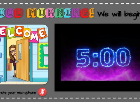 We Will Begin In... Bitmoji ⏲Display  Slides with Virtual Timers