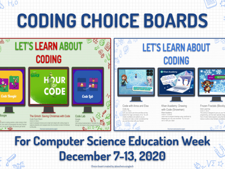 Coding Choice Boards💻🖱❄