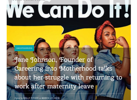 Jane Johnson talks about her struggle with returning to work after maternity leave