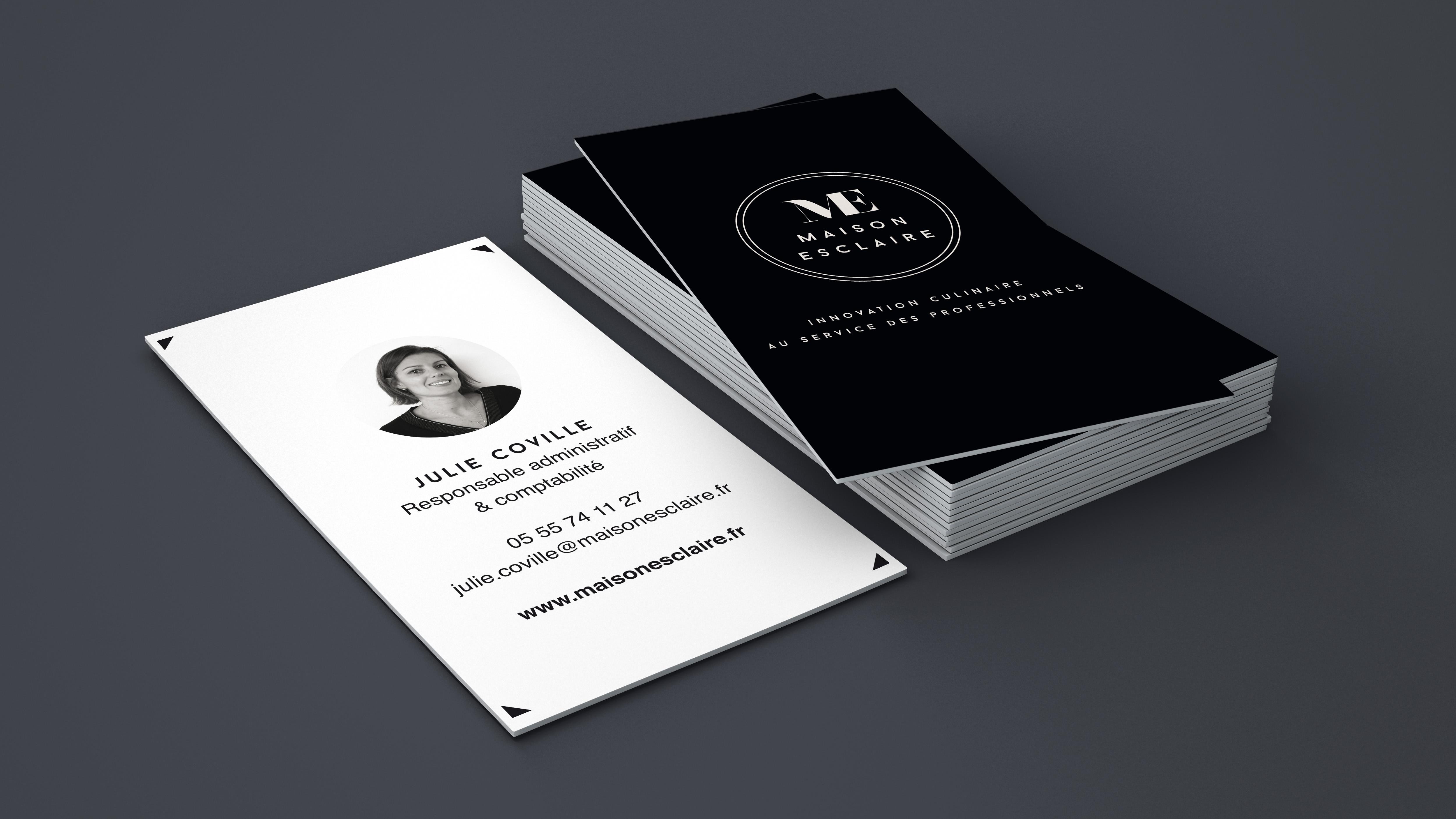 création de cartes de visite élégante