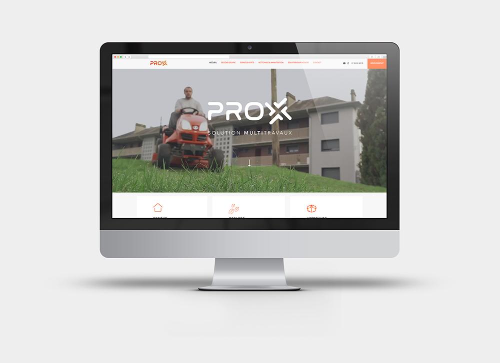 création d'un site web fait sur Wix pour le comte d'une entreprise de seervice