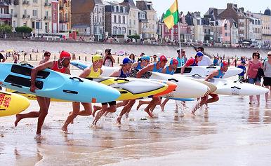 épreuve paddle board race planche du sauvetage sportif ffss à saint malo avec nautisurf st