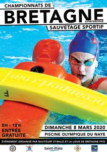 CHAMPIONNATS DE BRETAGNE ET INTERLIGUES DE SAUVETAGE SPORTIF PISCINE ST-MALO 2020