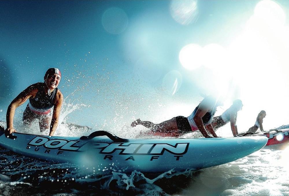 départ du paddle board race (crédit photo l'équipe mag)