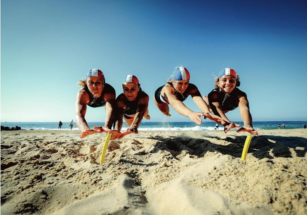 épreuve du Beach flag (crédit photo l'équipe mag)
