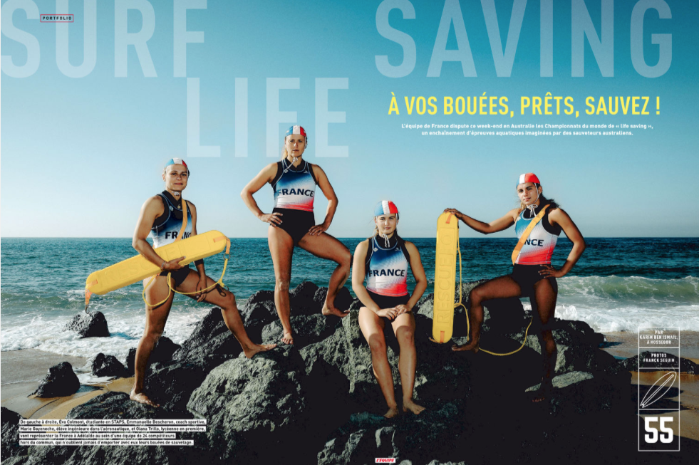 "sauvetage sportif ""surf life saving"" dans l'équipe magazine"