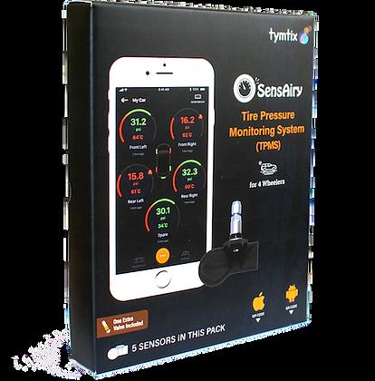 SensAiry 4 Wheeler  Internal TPMS-Pack of 5 Sensors