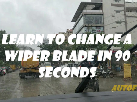 Learn to Change Your Wiper Blades in 90 Secs
