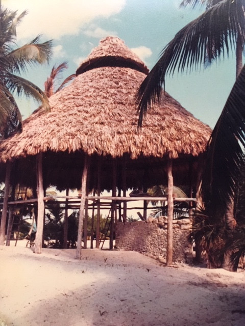 The Big Palapa at Xamach 1981 destroyed by Hurricane Gilbert in 1988