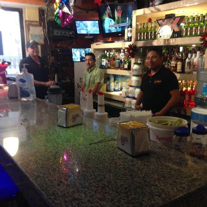 Las Vigas Bar and Restaurant  - 4 block walk from Casa Mexilio