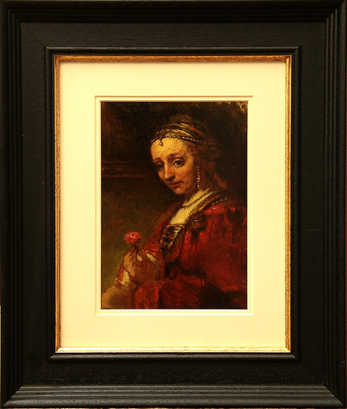 Rembrandt Study, 'Woman With A Pink'