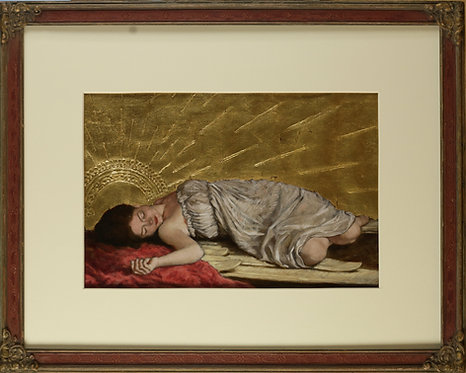 Resting Angel On red Fabric Study
