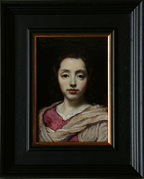 'Portrait Of A Young Girl' after Jacob van Oost