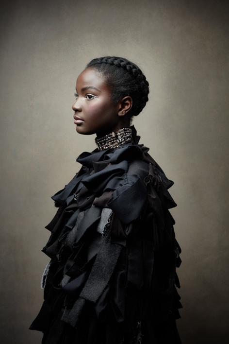 Beautiful African-American Girl.