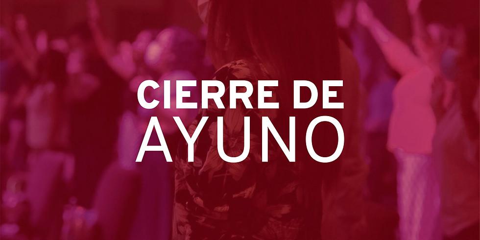 Viernes 22 de Enero Cierre de Ayuno