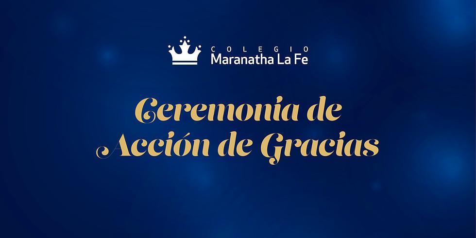 Ceremonia Acción de Gracias 2021