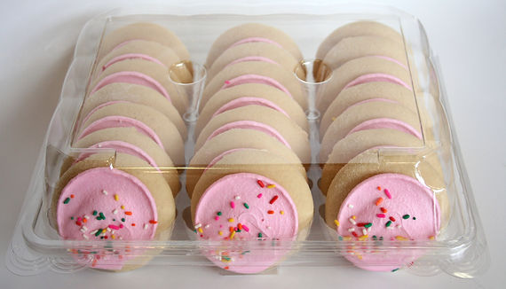 Whole Grain Pink Cookies