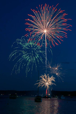 Fireworks in Boothbay Harbor