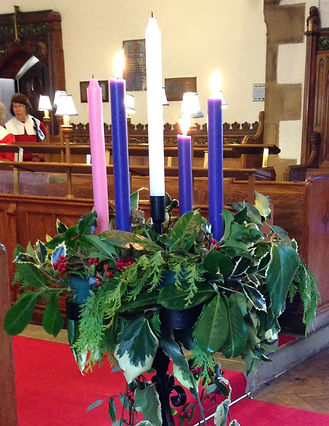 Advent Candle on the Third Sunday of Advent
