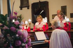 St John's Choir singing at a wedding