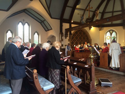 Singin our Opening Hymn at St John's