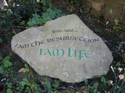 Garden stone at Holy Trinity