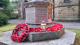 St John's War Memorial on Rememberance Day