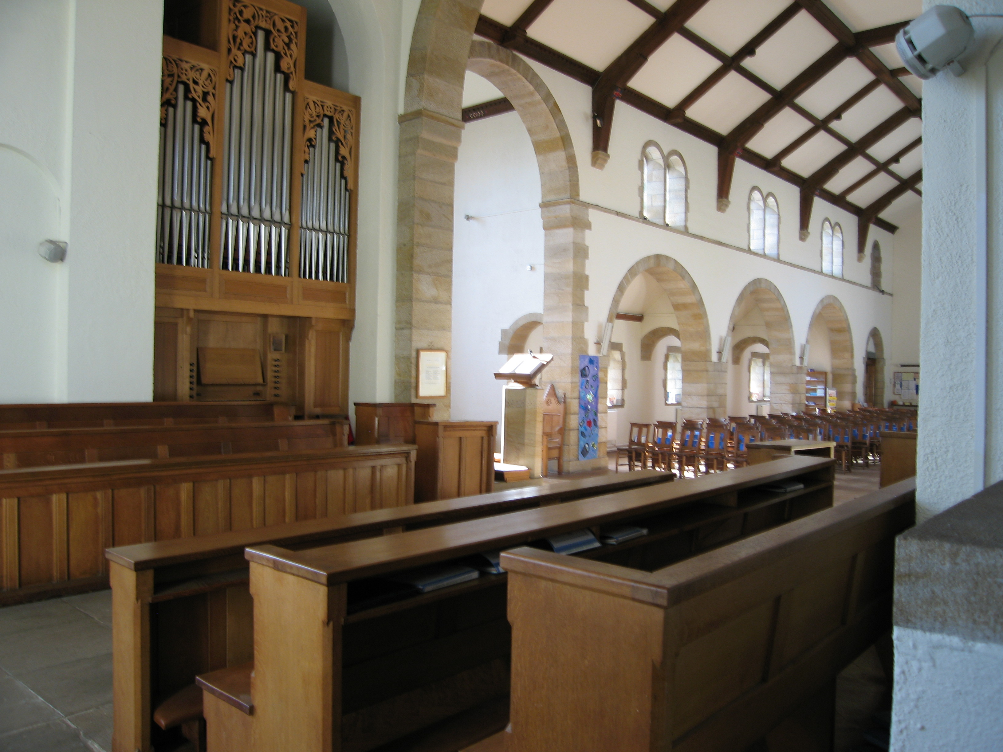 Choir stalls and the organ
