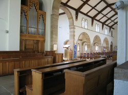 Choir stalls and the organ