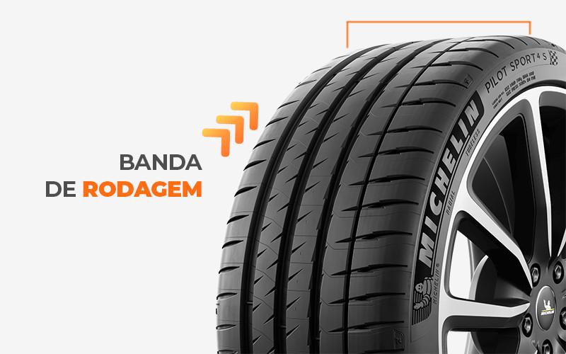 banda de rodagem do pneu