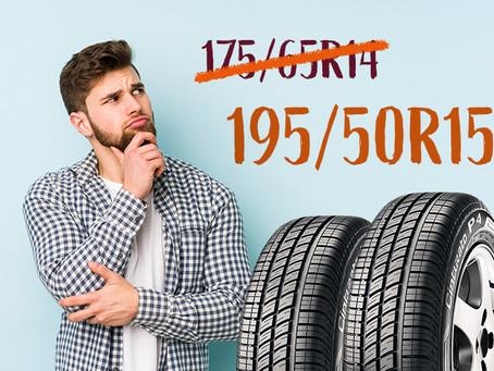 Medida original do pneu: posso mudar?