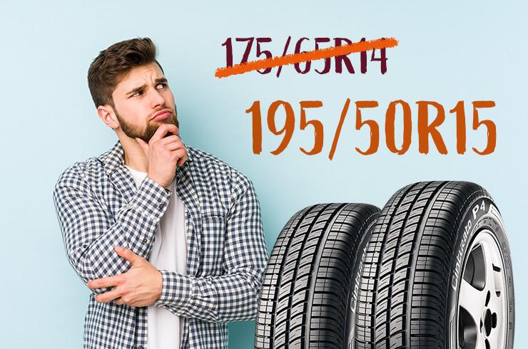 Homem pensativo sobre mudança de medida de pneus