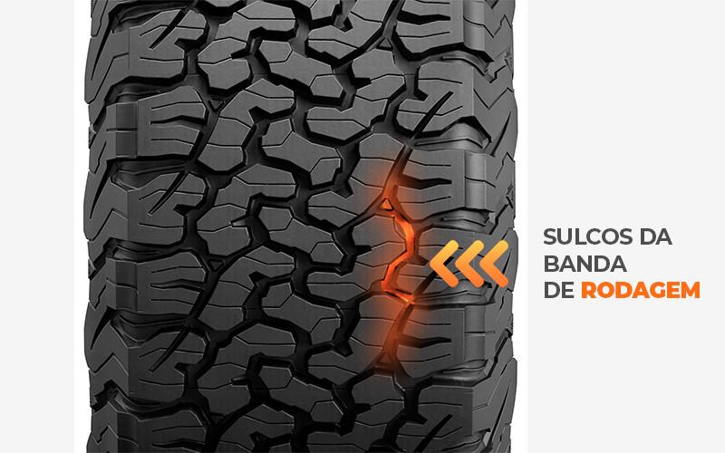sulcos do pneu