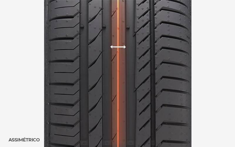 pneu assimétrico