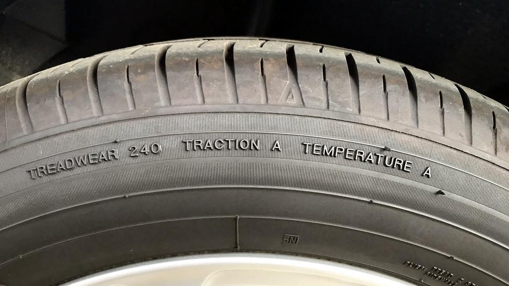 índice Treadwear no pneu
