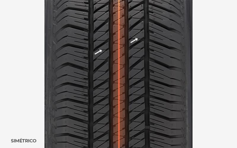 pneu simétrico