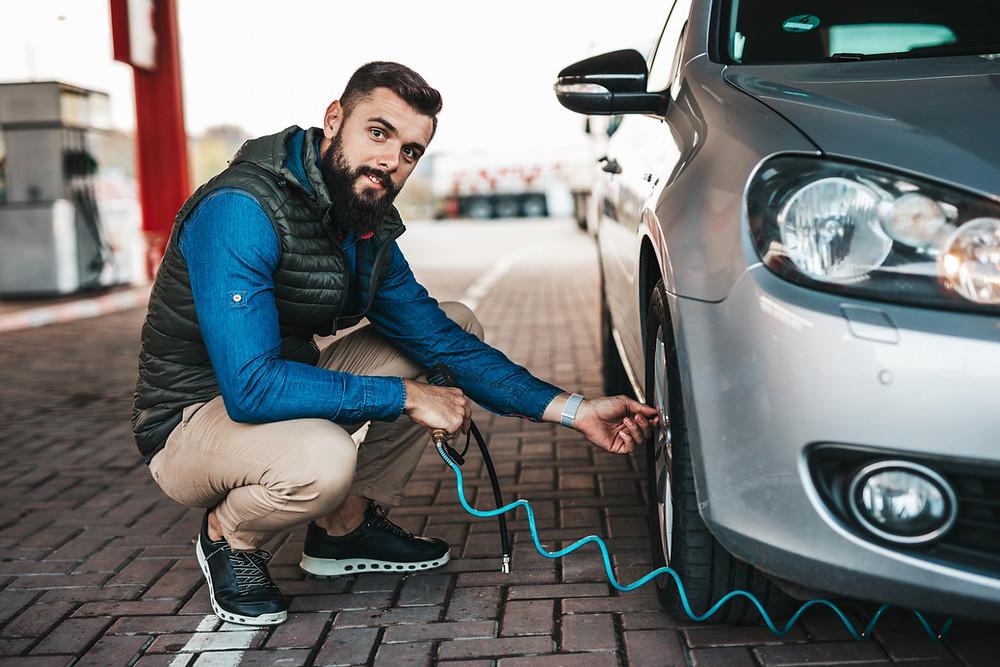 calibragem de pneus de carros