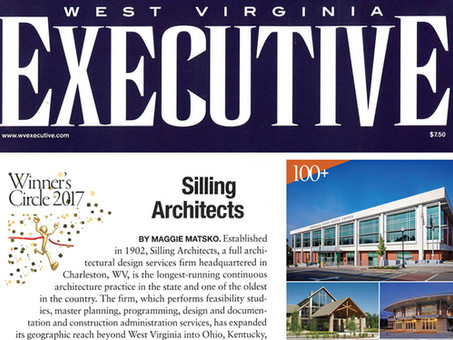 Silling Architects Featured In WV Executive Magazine - 2017 Winners Circle
