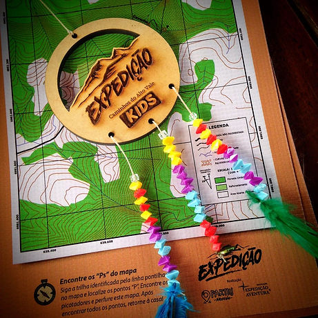 Mapa e medalhão Expediçãi Kids
