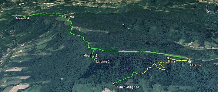Mapa trajeto Serra Mirador