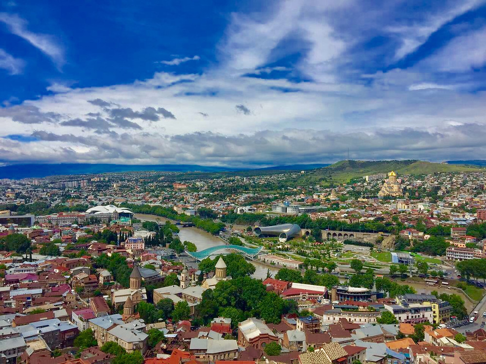 Tbilisi view from Kartlis Deda