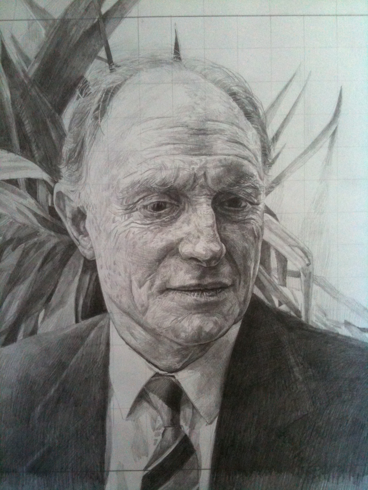 Preliminary drawing, Neil Kinnock