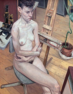Nude With Microscope