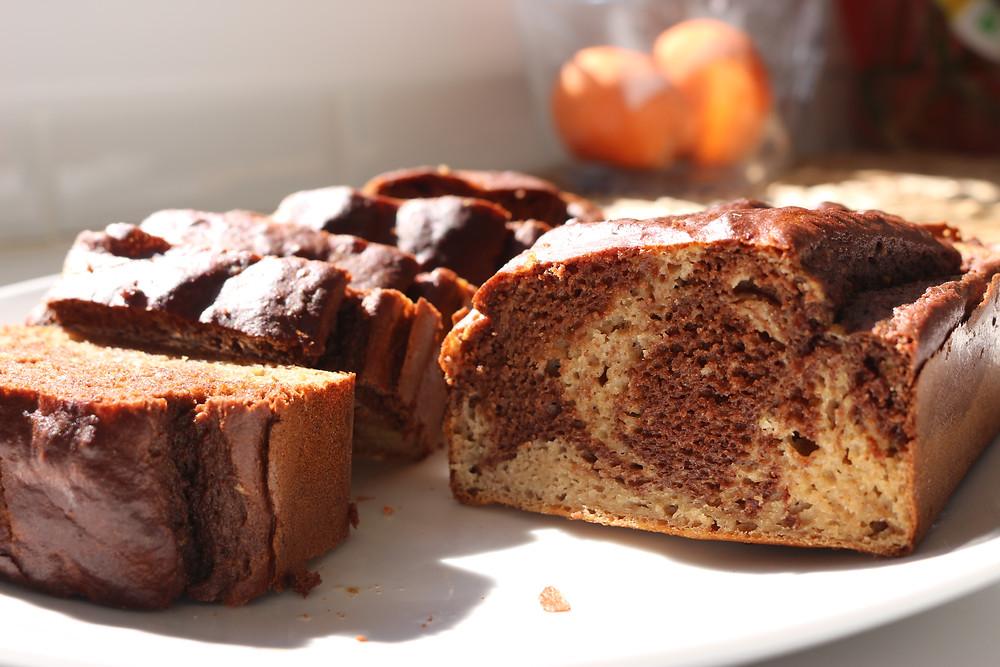 Gâteau marbé fit healthy et diète
